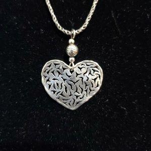 Silpada Pierced Heart Pendant on a Silpada Chain